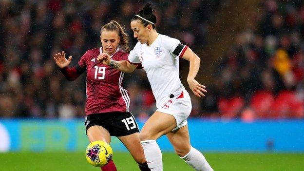 Lucy Bronze: Calf injury rules England defender out of SheBelieves Cup - BBC Sport