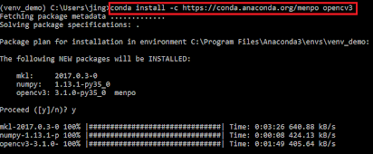 installation] How to install Anaconda with OpenCV
