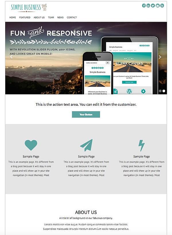 Simple Business WordPress Theme Demo