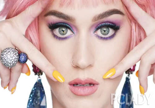 Katy Perry Hit the Latest Cosmetics Advertising Bold Color Blind