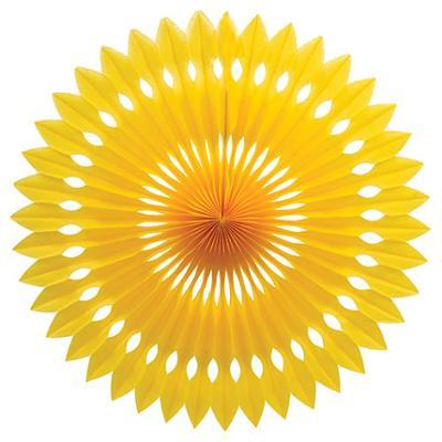 Discount Party Supplies Decorative Fan 40cm - Yellow