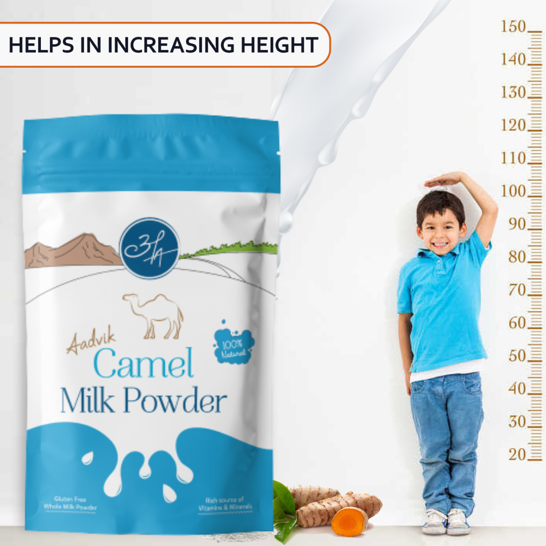<h1><center>Does Camel Milk help in height growth?</center></h1>   Aadvik Foods & Products Pvt. Ltd.