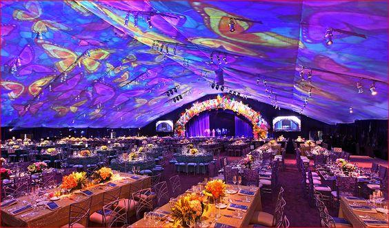 Projection Mapping on inside of tent: