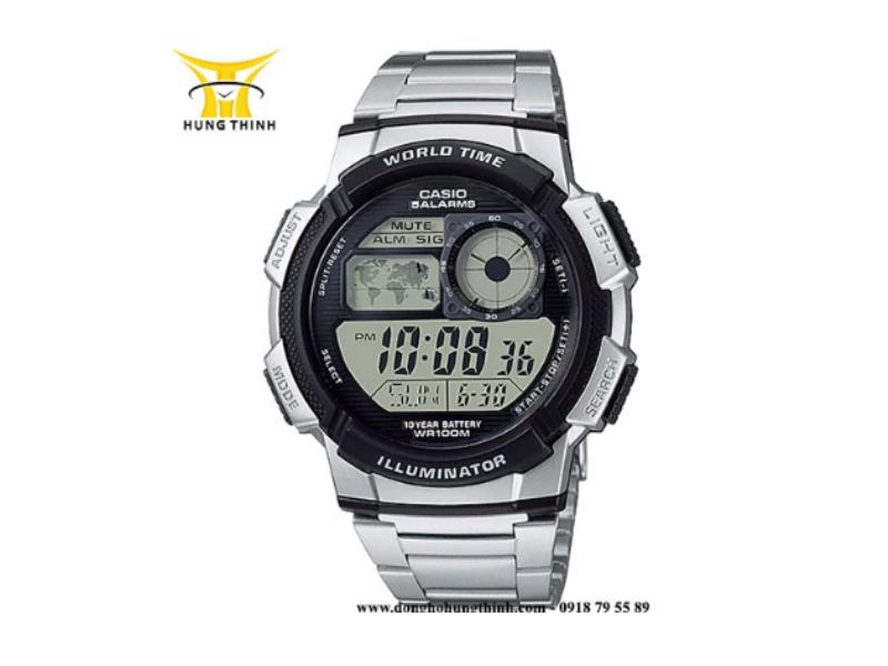 Đồng hồ điện tử Casio nam chính hãng kiểu dáng thể thao và bao gồm nhiều tính năng tiện lợi.