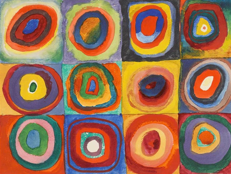 Kandinsky, Squares with Concentric Circles