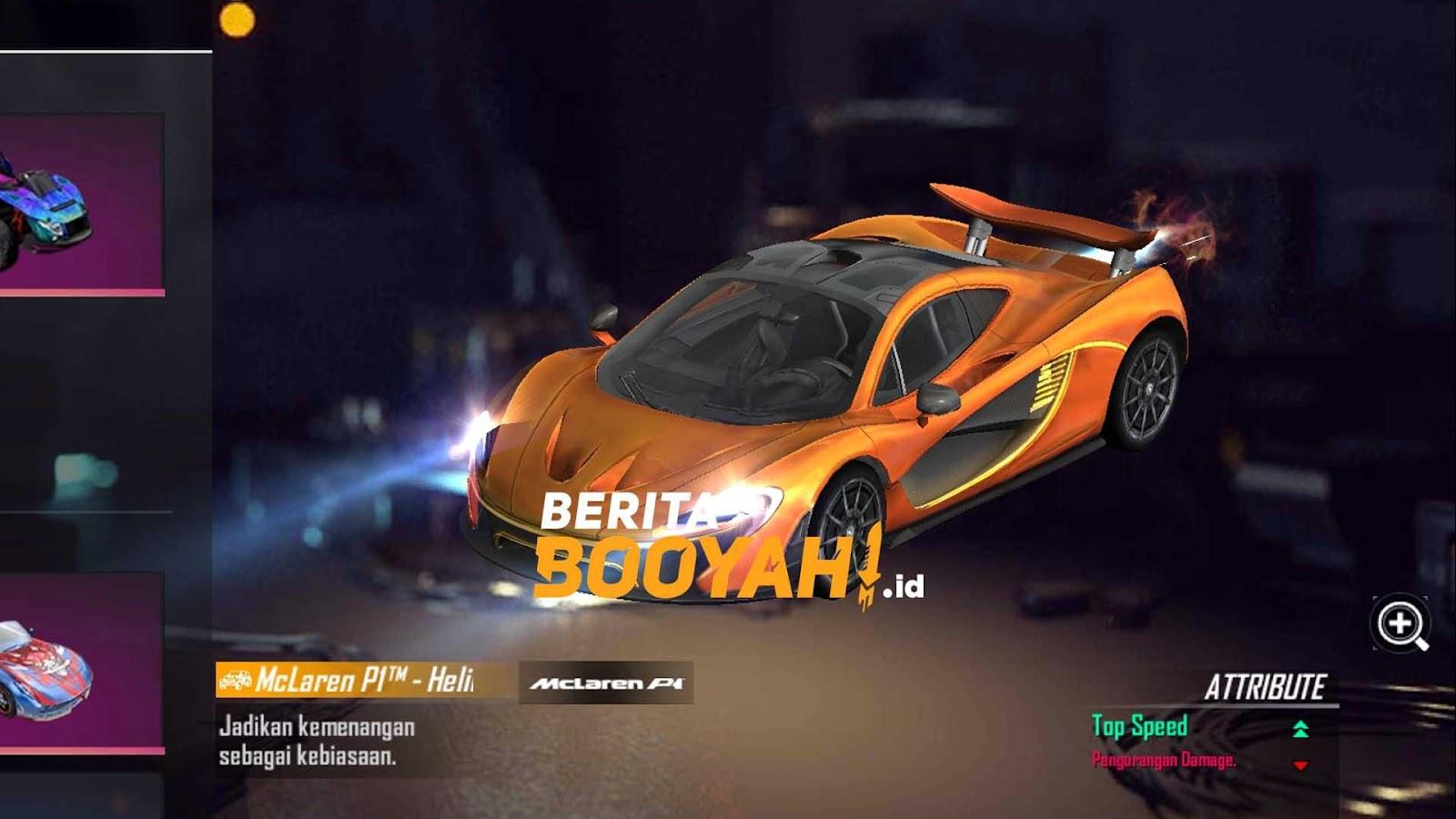 Free Fire X McLaren P1 สกินรถใหม่สุดหรู 2