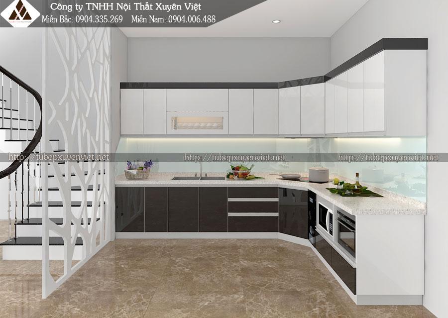 Tủ bếp Acrylic và những điều bạn cần quan tâm hình 3