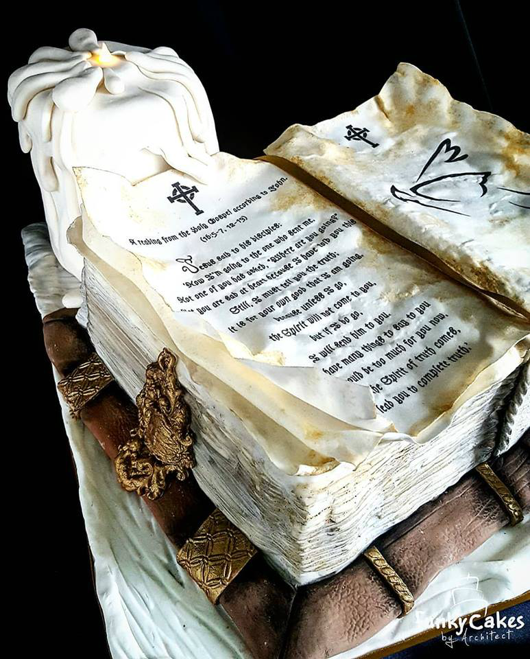 Bible Holy Communion cake
