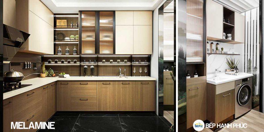 5 Mẫu Kệ Bếp, Tủ Bếp Bằng Nhựa PVC Đẹp 3