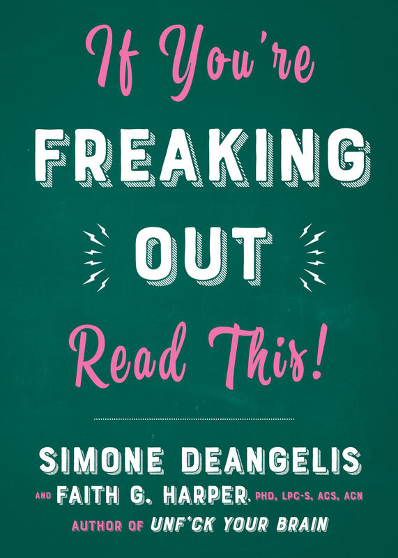 "Simple green background with the pink and white words ""If You're Freaking Out Read This!"""