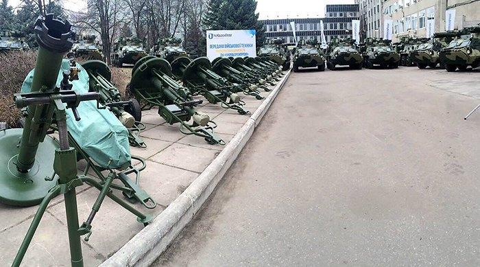 Передача Укроборонпромом мінометів *Молот* ЗСУ