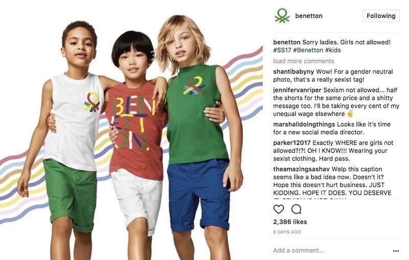 Quảng cáo tranh cãi của Benetton (cre: PilotSocial)