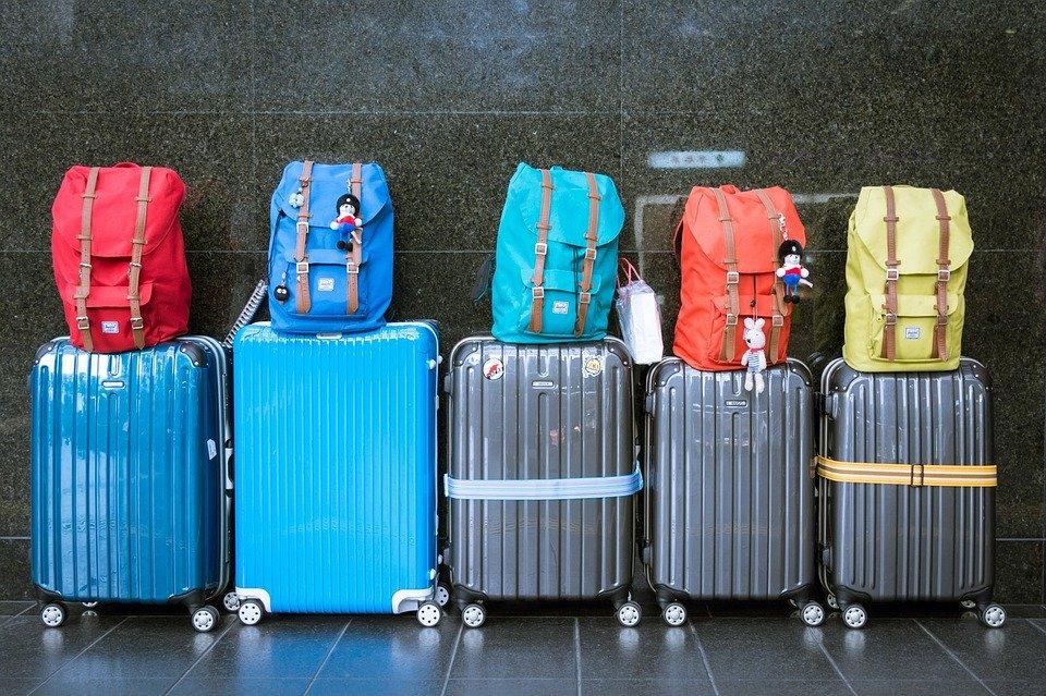 荷物, スーツケース, 手荷物, バッグ, 休暇, 旅, 旅行, 旅行者, 出発, 空港, 宛先, 休日