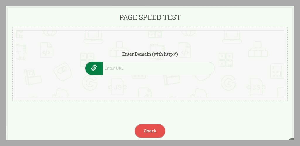 page speed test