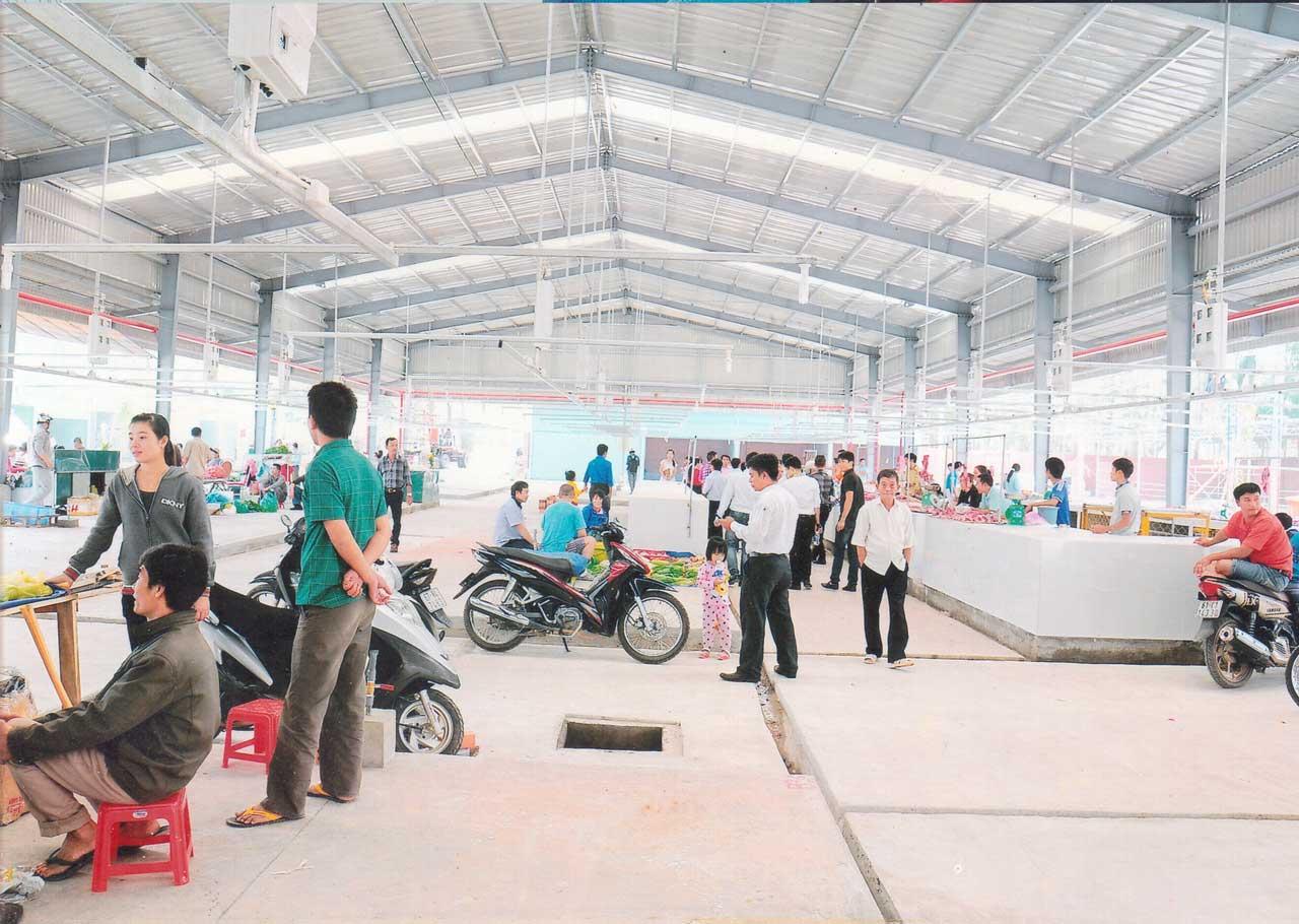 Dự án chợ Vĩnh Tân là một trong top 4 dự án bất động sản nổi bật tại công ty địa ốc hoàng khôi số 11 phạm ngọc thạch
