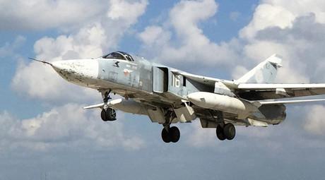 A Russian Su-24 front-line bomber jet. © Dmitriy Vinogradov