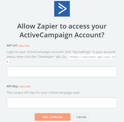 Zapier Integration with ActiveCampaign