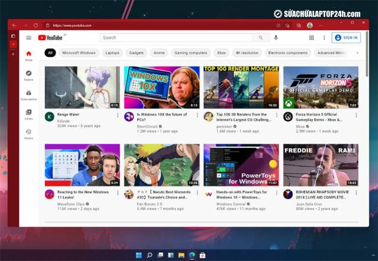Trình duyệt Microsoft Edge trên Windows 11