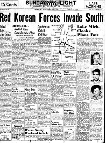 Korean War Newspaper of The Korean War