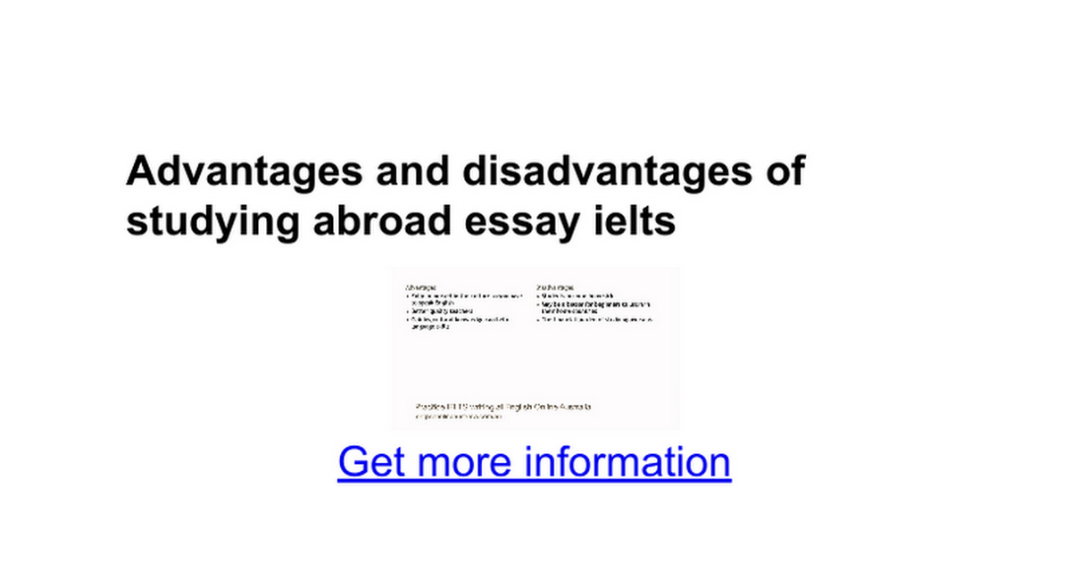 advantages and disadvantages of living abroad Write task 2 ielts - advantages and disadvantages essay write advantages and disadvantages essay part 2 writing task ielts exam.