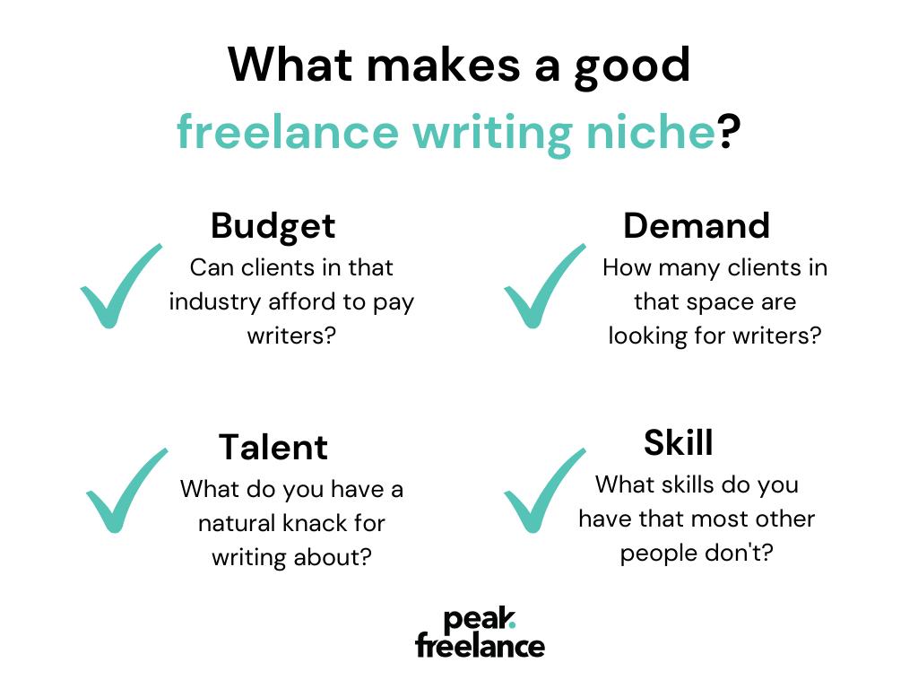 What makes a good freelance writing niche?