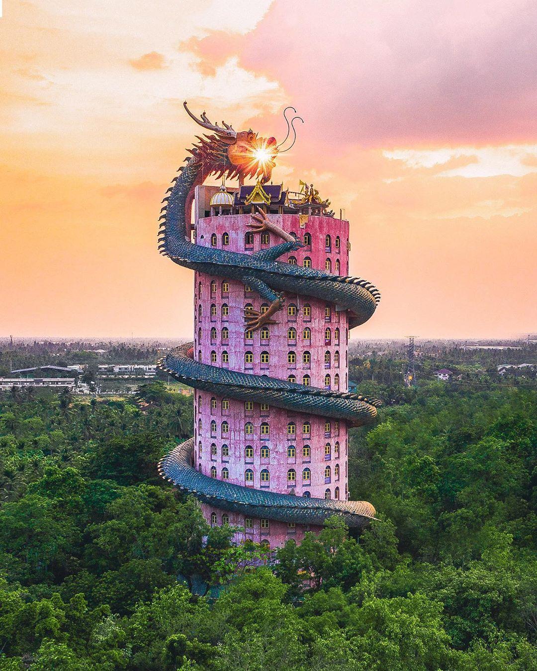 Wat Samphran Dragon Temple Landscape