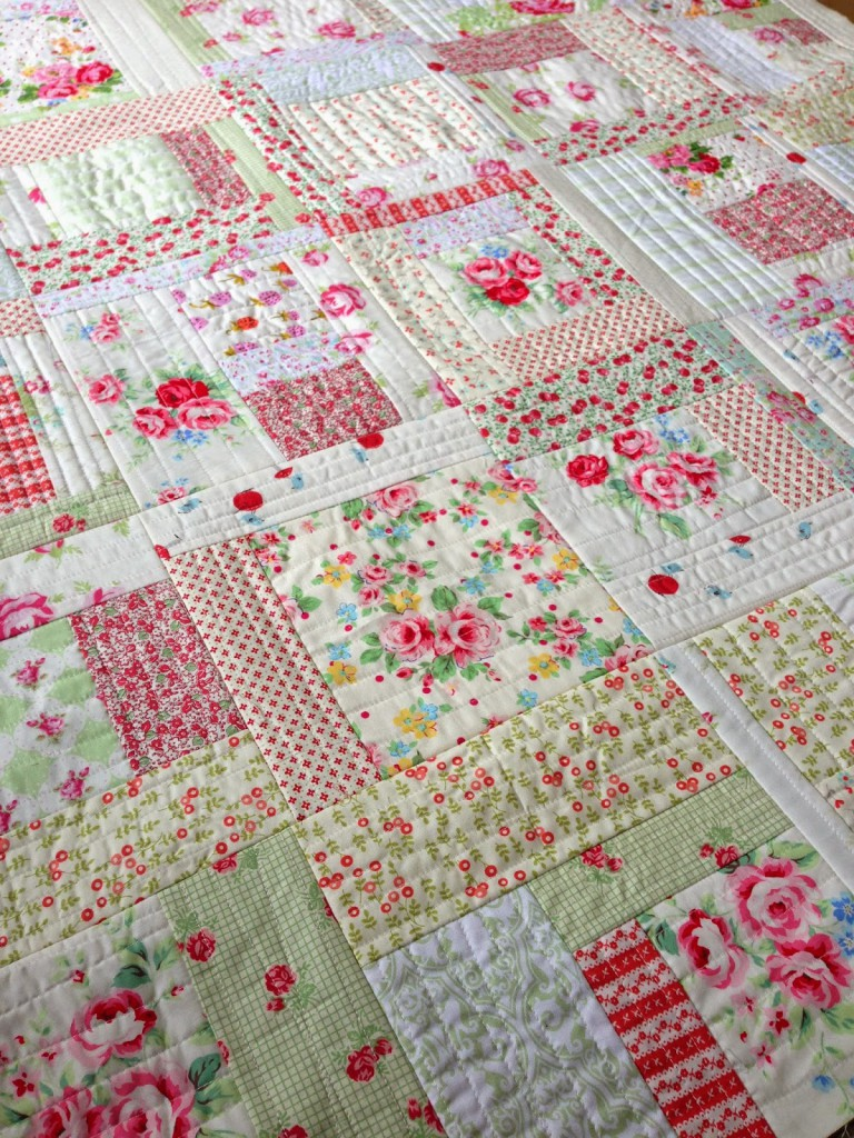 Quilt-As-You-Go Brick Road Quilt