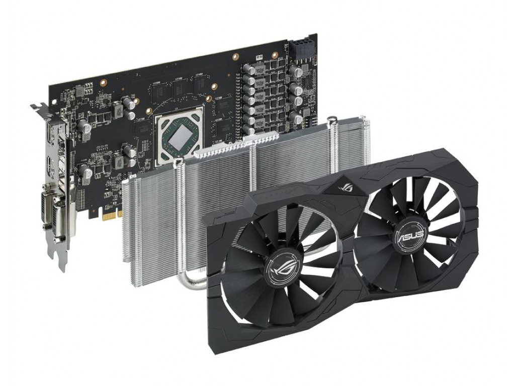 Видеокарта ASUS Radeon RX 570 ROG Strix 4GB GDDR5