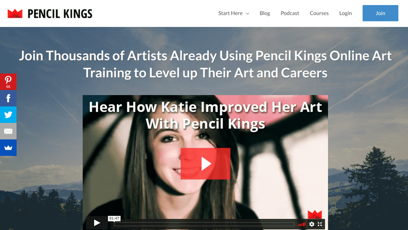 Pencil Kings is an online art education platform dedicated to teaching beginning and intermediate artists how to improve their skills and, if desired, become successful commercial artists.