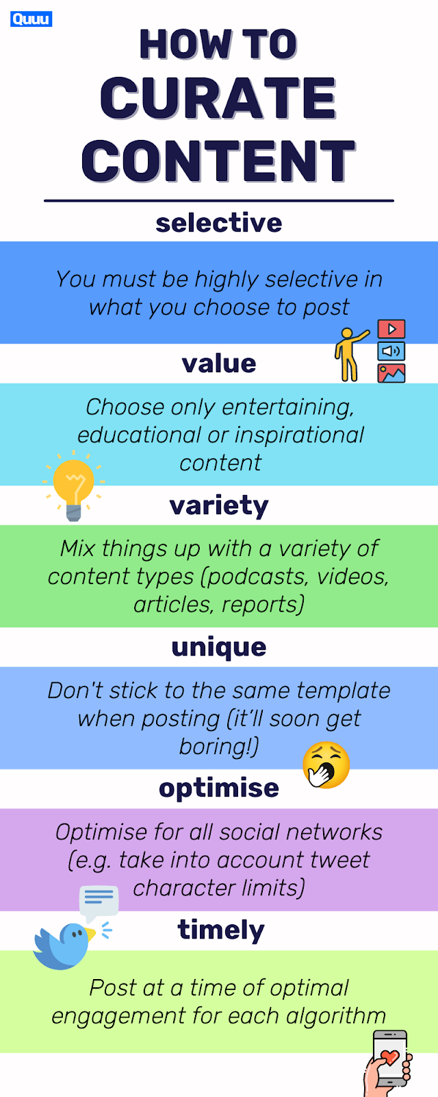 How to curate content with 6 tips.