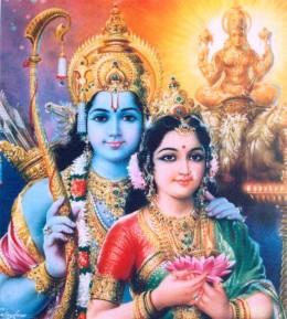 Rama with his beloved Seetha.
