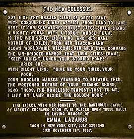 Poema Novo Colosso na Estátua da Liberdade