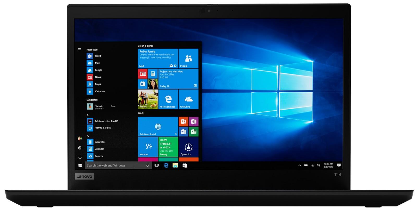 Фото 3. Ноутбук Lenovo ThinkPad T14 Gen 1 Black (20S00013RT)