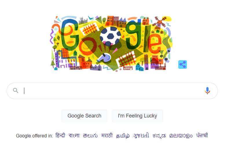 Screenshot of Google India HomePage
