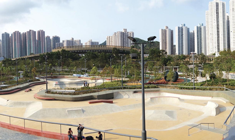 Outdoor skatepark at the Hong Kong Velodrome Park in Tseung Kwan O