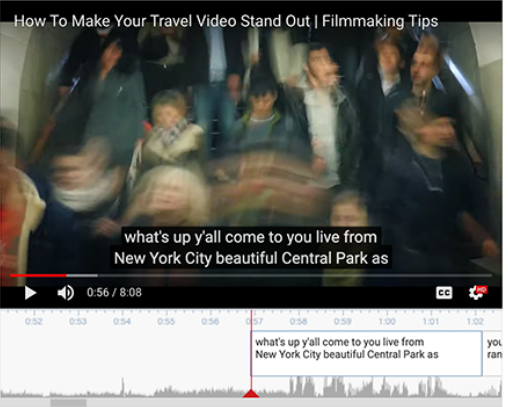 How to add subtitles on YouTube manually - Step 5