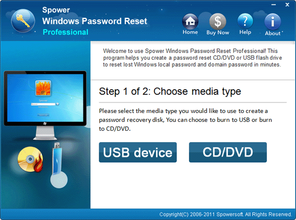 click usb device or cd/dvd