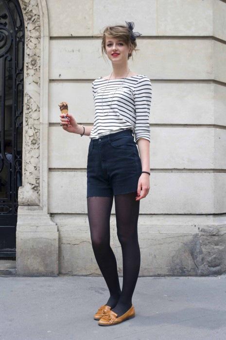 Como usar shorts de cintura alta: 20 Dicas de estilo 15