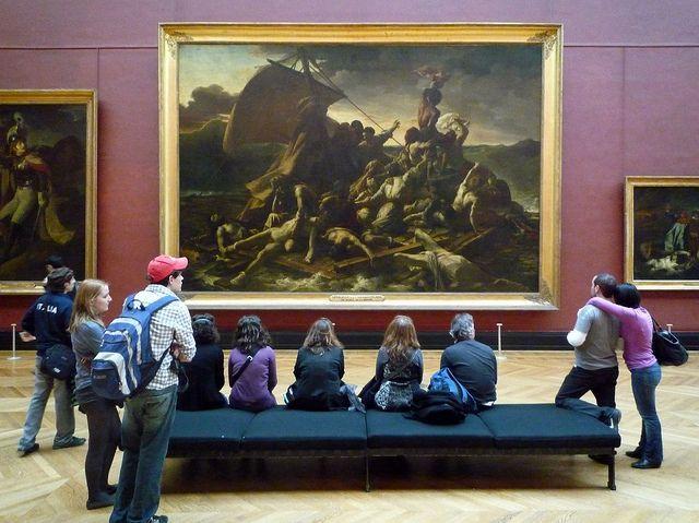 GÉRICAULT, Raft of the Medusa with Viewers | Romantic art, Art periods, Art movement