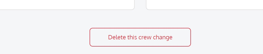 screenshot of the Martide website showing the delete crew change button
