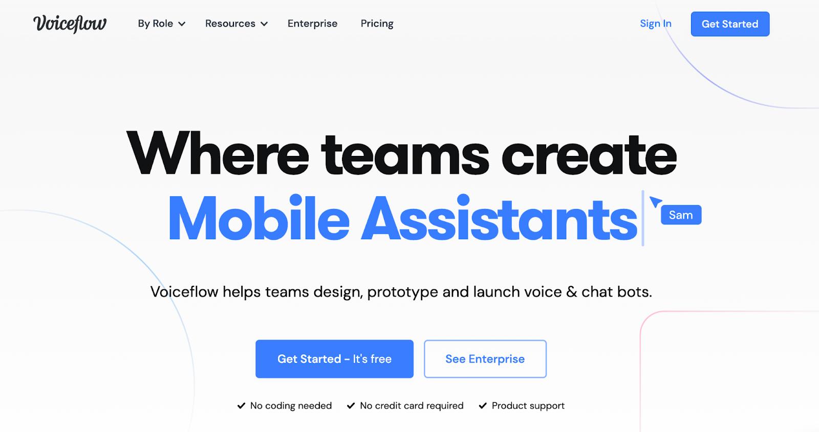voiceflow homepage