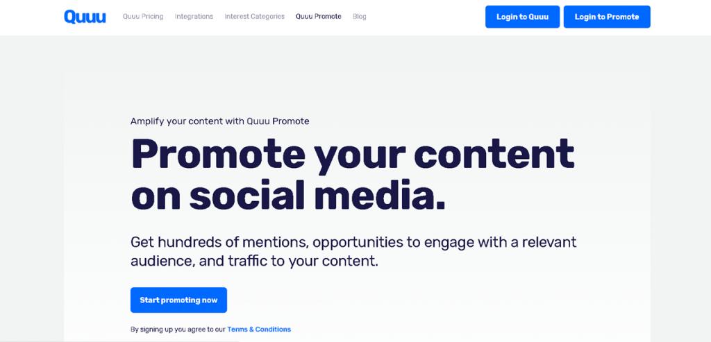 quu promote content promotion plattform