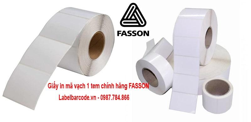 Giấy in mã vạch 1 tem chính hãng chuẩn chất lượng FASSON