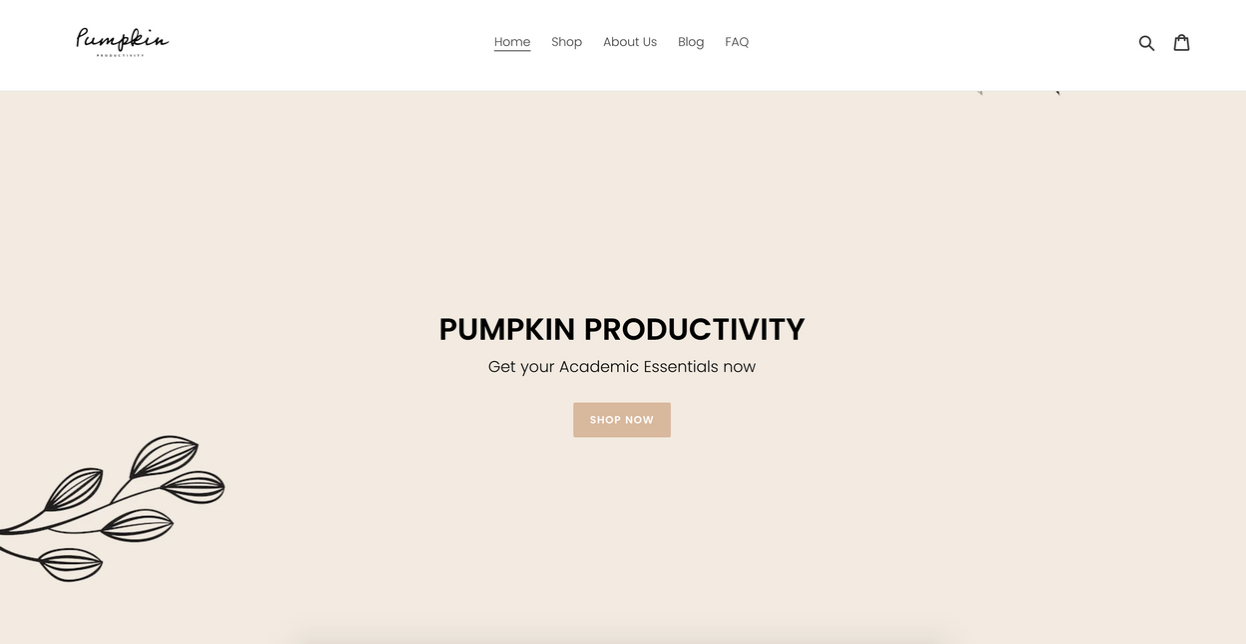 Pumpkin Productivity store