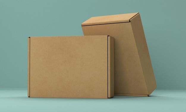 Packaging box mock-up Free Psd