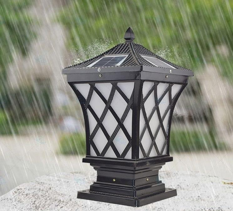 Đèn trụ cổng hình lưới đèn HT511