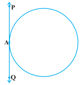 point lying on the circle