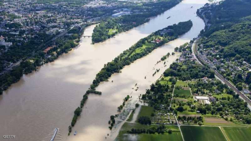 المياه عادة ما تملأ نهر الراين