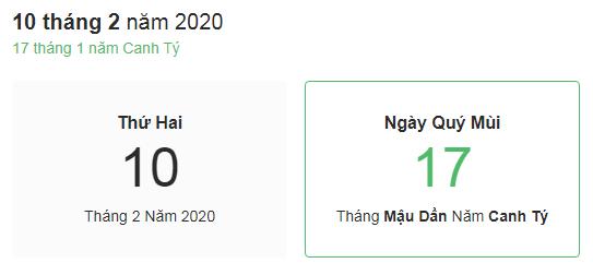 Dự đoán kết quả xsmb ngày 10/02/2020 theo phong thủy
