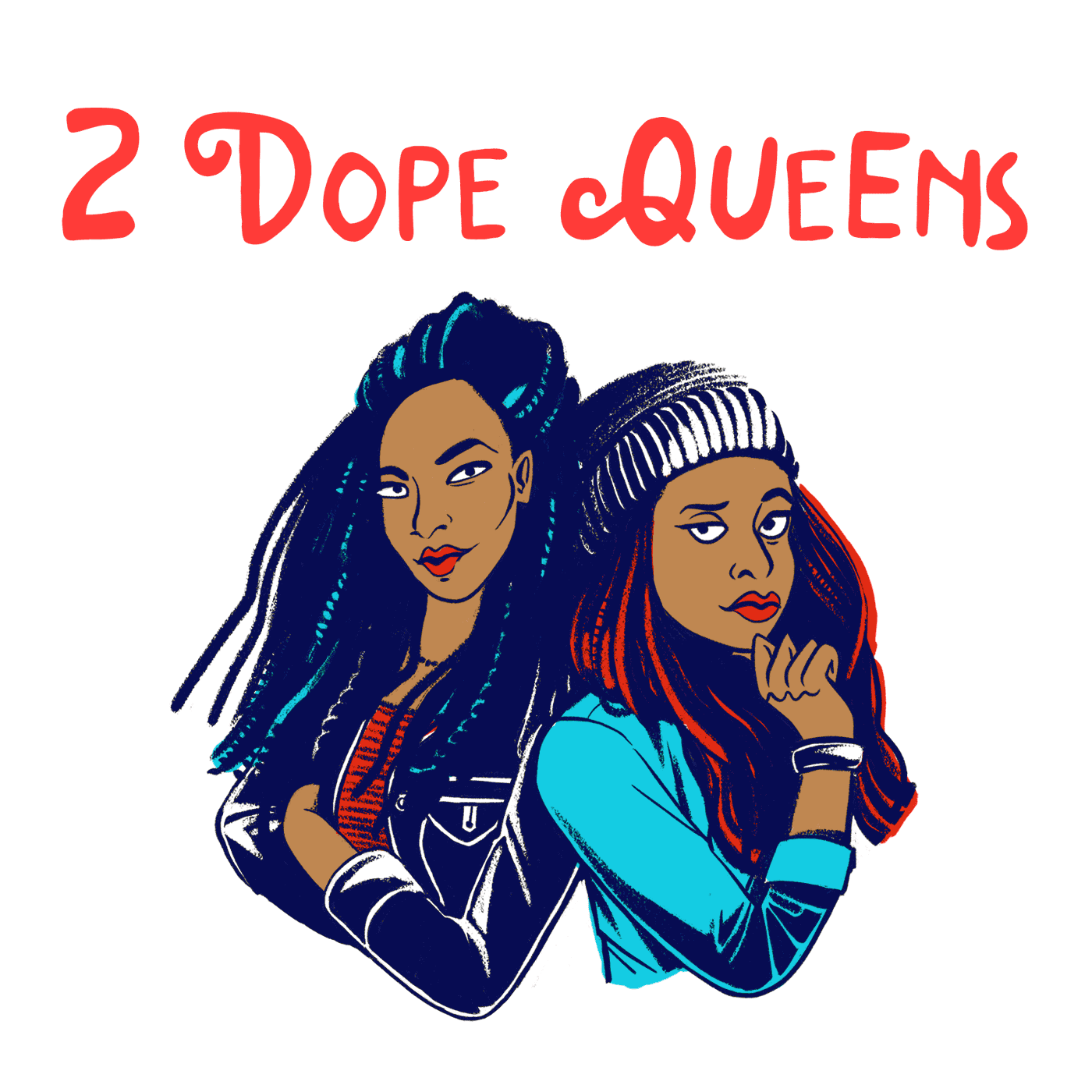 2 Dope Queens animated logo